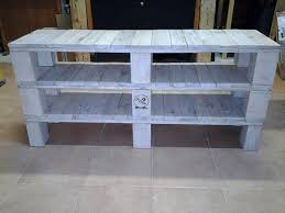 Pallet Console Table Diy Pallet Media Console Table And Tv Stand Media Consoles Tv