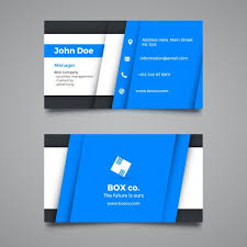 creative blue corporate business card template vector free download