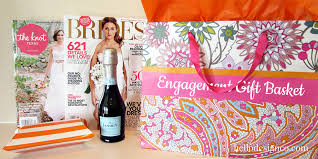 diy engagement gift basket hello design co