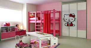 Hello Kitty Theme Toddler Bedroom Furniture Cupboard Table Bunk - Hello kitty bunk beds