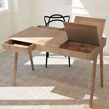 bureau desing bureau bois design tiroirs en teck massif 0 free et mtal