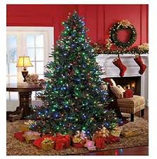 pre lit w 600 color changing led lights tree 7 5