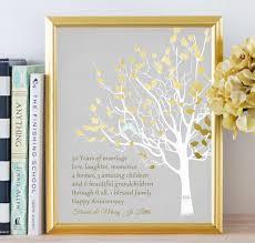 golden anniversary gift ideas golden anniversary family tree print by printsbychristine on etsy