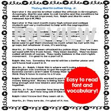 martin luther king jr interactive readers theater script and