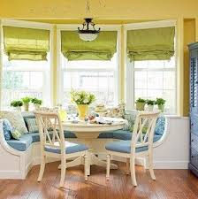 stylish kitchen bay window seat and bay window breakfast nook