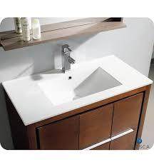 Wenge Bathroom Mirror 36 Fresca Allier Fvn8136wg Modern Bathroom Vanity Wenge