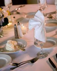 how to fold napkins for a wedding napkin folding lds wedding receptions