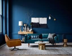 this is how to decorate with blue walls nonagon style