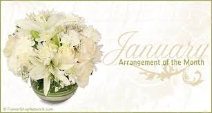 Birth Flower Of January - flower arrangement of the month