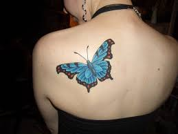 butterfly tattoos enhanced with flower designs cool
