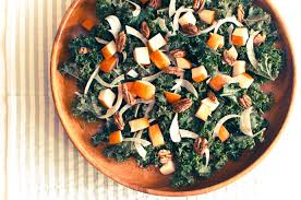 kale salad with apples fennel and candied pecans recipe by cook