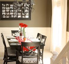 dining room shabby 2017 dining table decor idea with glass jars