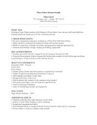 culinary resume exles brilliant ideas of resume exles pizza cook culinary resume