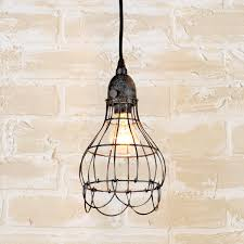 Cage Light Pendant Industrial Cage Work Light Pendant Shades Of Light