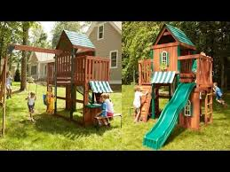 Backyard Discovery Winchester Playhouse Winchester Wood Complete Play Set Playground System Construction