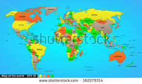 country maps map with country names stock images royalty free images