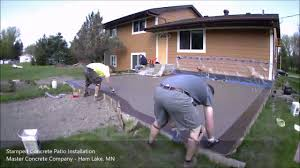 Stamped Concrete Patios Pictures by Stamped Concrete Patio Time Lapse Youtube