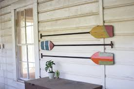boat paddle beach house wall decor woodwaves