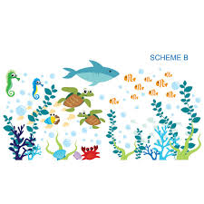 sea and beach themed wall decals you ll love wayfair under the sea and oceanic wall decal