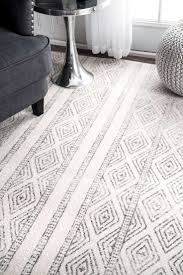 White Area Rug Interior Attractive Gray And White Geometric Area Rug For