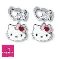 hello earrings enamel crystals sterling silver