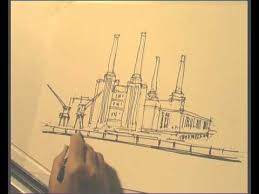 london drawing battersea power station youtube