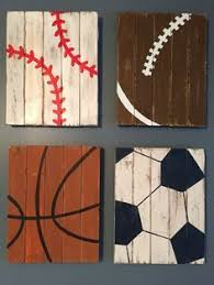 distressed wood artwork football wall sports decor rustic by palletsandpaint
