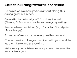 so you want to be an academic