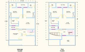 Marla House Plan Dwg  Marla House Plan With Elevation - Autocad for home design