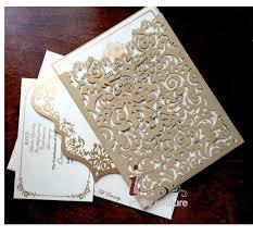 wedding invitations luxury custom laser cut luxury wedding invitations pockets