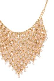 statement chain necklace images Lyst forever 21 beaded chain statement necklace in metallic jpeg