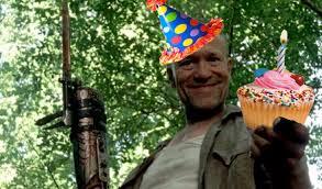 Walking Dead Happy Birthday Meme - happy birthday the walking dead merle cupcake party hat