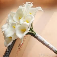 Bridal Bouquet Cost Artificial Calla Lily Bridal Bouquet Wedding Accessories Flower