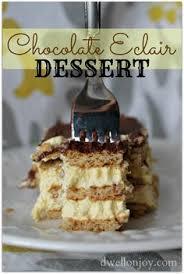 easy peasy chocolate eclair dessert recipe chocolate eclairs