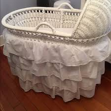 Pottery Barn Wicker 65 Off Pottery Barn Other Pottery Barn White Wicker Bassinet