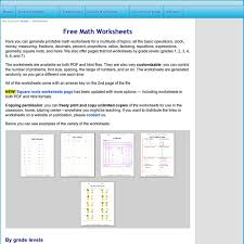 free math worksheets generate math worksheets for basic