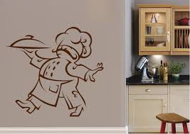 Fat Chef Kitchen Wall Stickers Adhesive Wall Sticker
