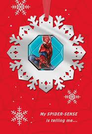marvel u0027s spider man amazing holiday christmas card greeting