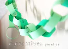 the creative imperative thankful chain christmas garland