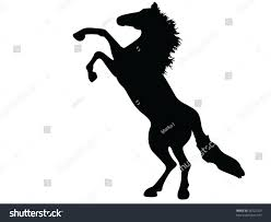 mustang horse silhouette wild horse mustang vector silhouette stock vector 38222260