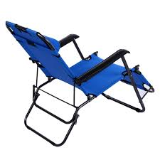Patio Recliner Lounge Chair by Ancheer Folding Lounge Patio Chair Outdoor Reclining Beach Chaise