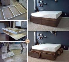 Easy Diy Platform Storage Bed by 18 Gorgeous Diy Bed Frames Diy Storage Bed Diy Storage And