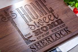 housewarming gift personalized cutting board new home gift our