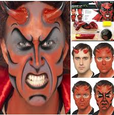 halloween devil demon lucifer horns u0026 face paint make up fancy