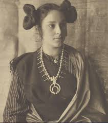 native american hairstyles for women navajo woman late 1800 s with a naja squash blossom necklace