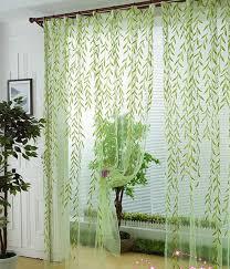 Decorative Curtains Scenic Window Curtain Modern Rustic Balcony Window Screening