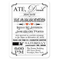 Post Wedding Reception Invitation Wording Post Wedding Invitation 7 Vintage Poster Chalkboard Scrolls