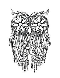 coloring page for adults owl ideas owl coloring page and feather owl coloring page adult coloring