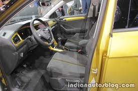 volkswagen t roc r line interior at iaa 2017 indian autos blog