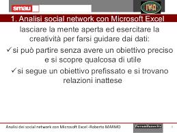 si e social microsoft analisi statistica dei social con microsoft excel
